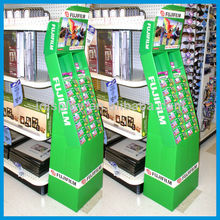 corrugated cardboard retail totem display for sports goods