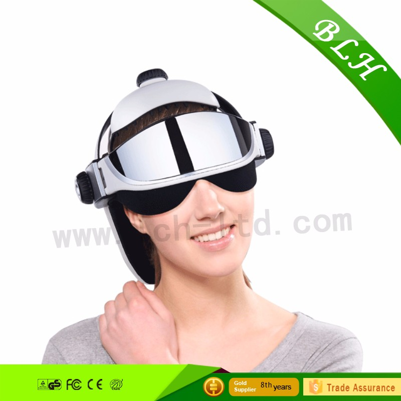 2016 LCD Screen musical head acupuncture heated eye head massager for health care