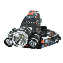 Hot seller 3*T6 5000lm 4-Mode Single LED Headlamp Black
