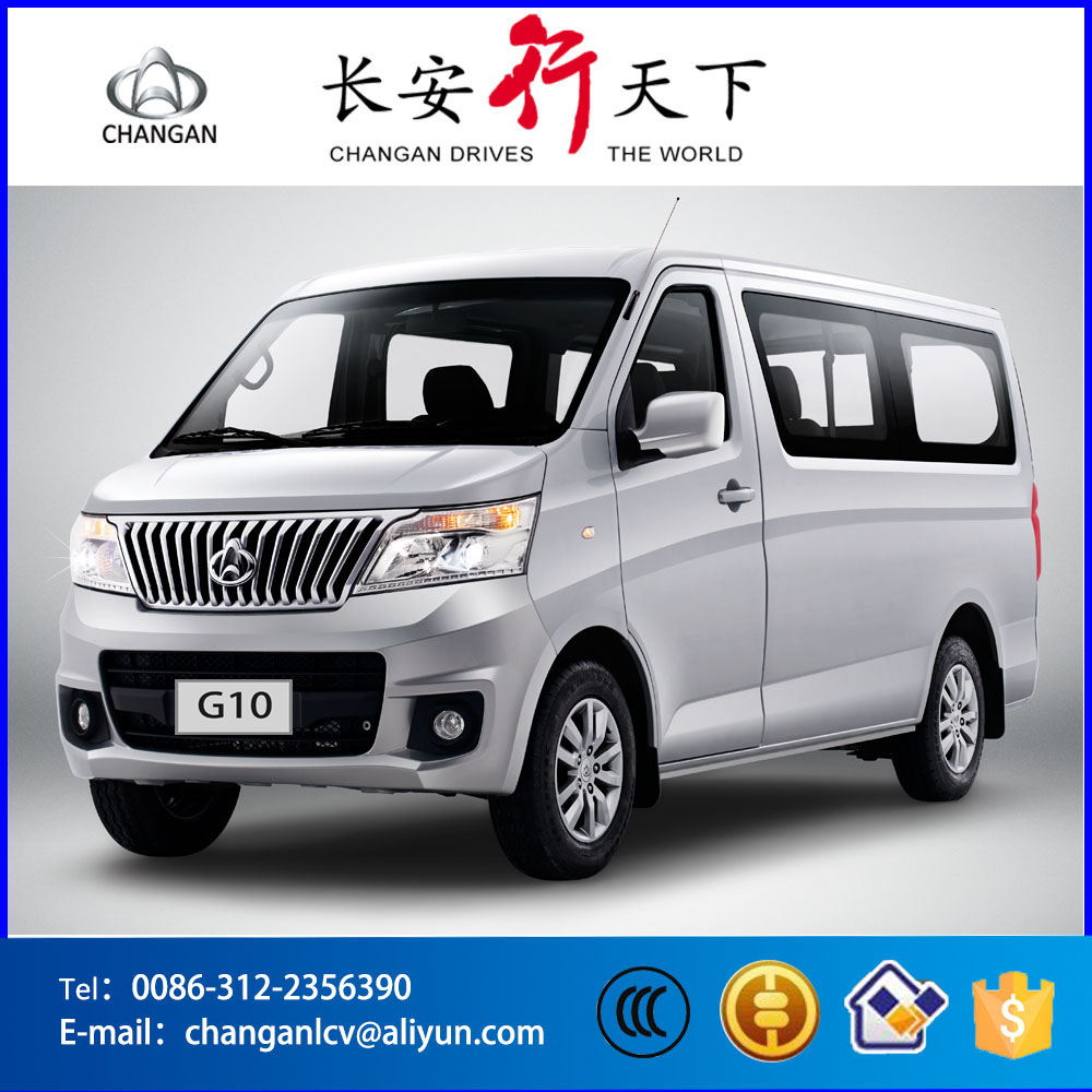 China CHANGAN left handle drive 5MT manual transmission Mitsubish engine gasoline 1.5L 9-11 passengers mini van