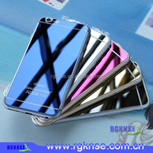 2015 New arrival Front and B Colorful premium color tempered glass screen protector for Iphone 5, 6, 6plus