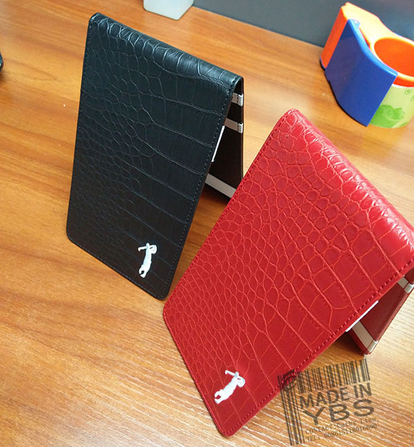 2016 hot sale wholesale genuine leather golf score card cover,leather golf score card holder