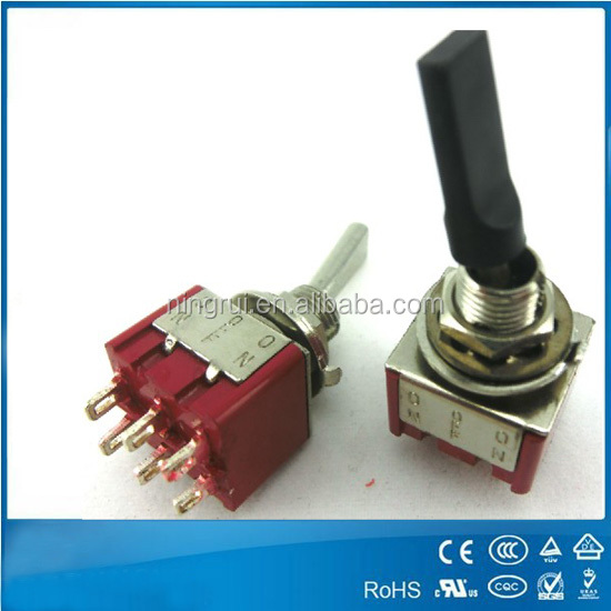 6 pin 3a 12v 3-way toggle switch