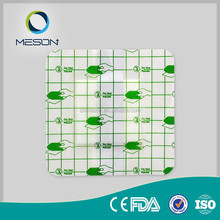 consumable medical supplies surgical mesh polyurethane film transparent island pu wound healing dressing types plaster pad pack