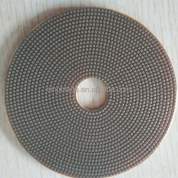 Diamond electroplated flexible wet polishing pads for marble,ceramic,glass