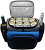 Custom polyester insulated beer bottle cooler lunch bag wholesale