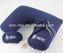 4 in 1 T-Shirt cotton inflatable travel set with logo printed for promotional gifts