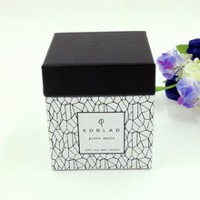 Custom glass candle box gift packaging