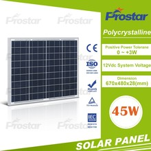 Home System Solar Power 45W Kit Poly Solar Panel 45 Watt Battery Charger