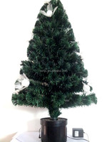 Plastic Handmade Flower Fiber Optic Petal Christmas Tree/ Battery Christmas Trees