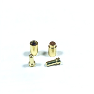 Brass Circular Claw spring Power supply Pin Female socket header connector large current Gold Flash plated for PCB board
