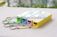 2013 NEW ARRIVAL 2200~2600mAh mobile power pack powerbank colorful for cell phone accessories