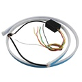 LED Strip Lighting Rear Trunk Tail Light Dynamic Streamer Brake Turn Signal Reverse Leds Warning Light