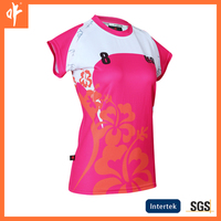 custom ladies casual shirt and tops,sublimation polo jerseys,away shirt with round collar,