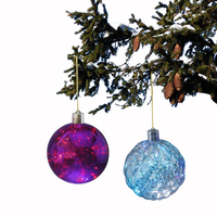 Hanging Christmas Tree Ornament Purple Plastic Christmas Ball Decoration
