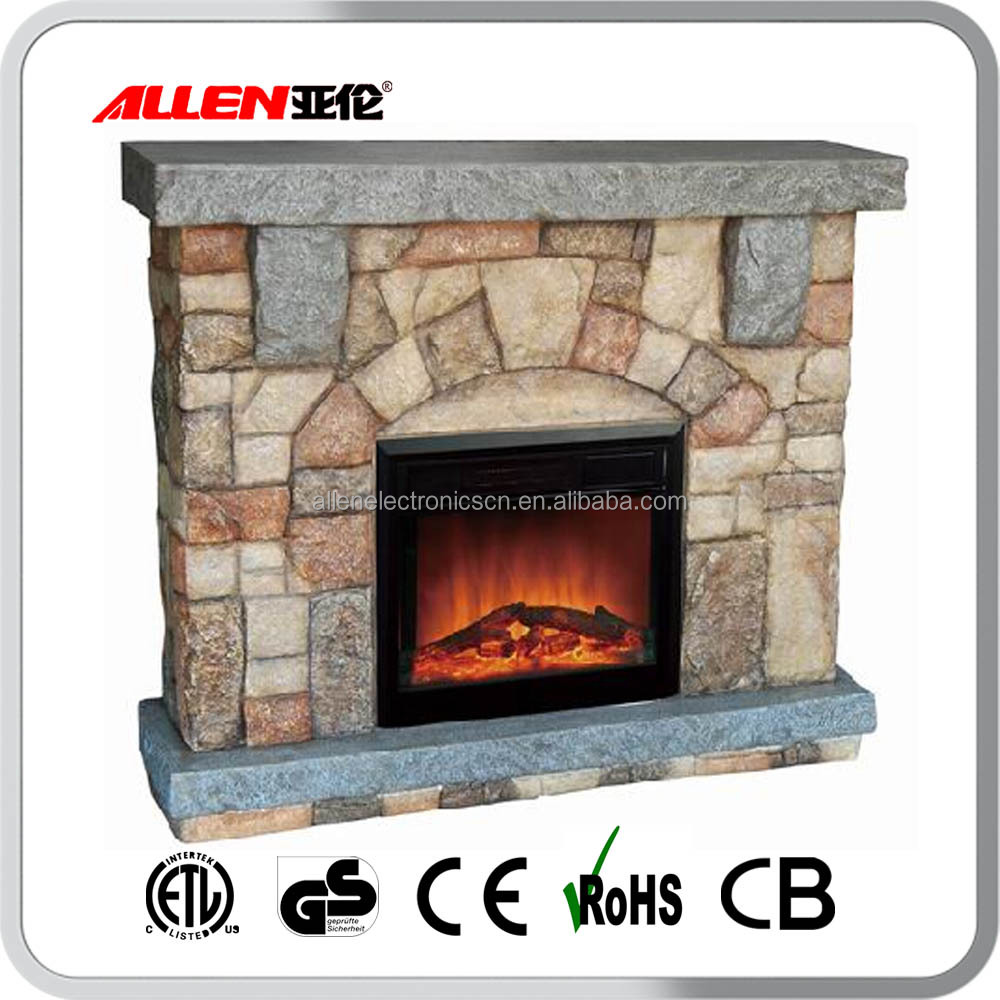 Manufacturer direct ETL and CE approved electric insert polystone fireplace electric
