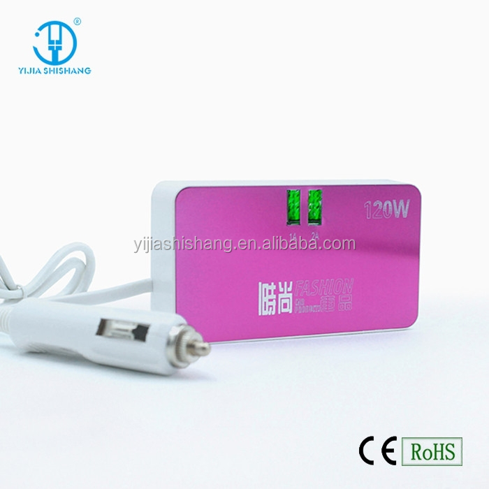High quality car charger with 3 car cigarette lighter made in China, car cigarette lighter plug