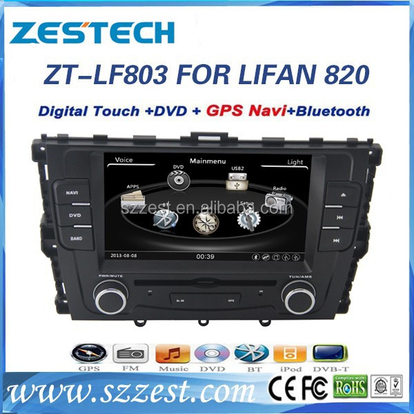 ZESTECH Car DVD/GPS manufacturer in China player Video 3G car dvd for Lifan 820 car dvd with gps