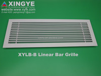 Aluminium air linear bar supply grille with removable core for industrial air conditioning, XINGYE ventilation return air grille