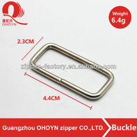 Fashion rectangle metal buckle silver buckle for strap bag
