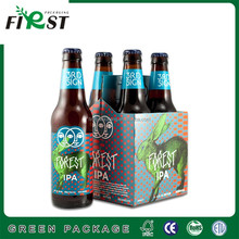 2017 First packaging Take away strong structure drink carrier/cardboard 4 pack bottle beer carriers