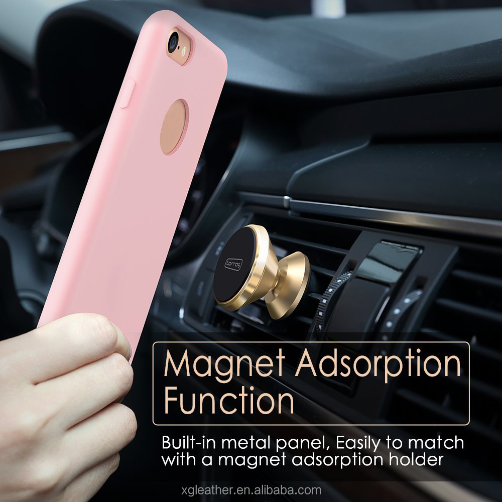 New arrival Magnet support Original Silicone Case Cover With Soft microfiber Lining for iPhone 7S