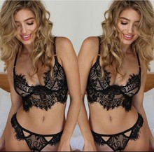2018 Hottest design sexy black transparent lingerie, Free sample