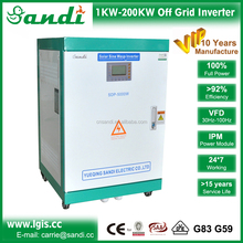 Without battery three phase 380vac off grid pure sine wave inverter 5kw to 250kw