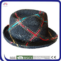 cheap red natural Straw Folding paper foldable Hat for men