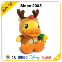 B.Duck promotional gifts Christmas stuffed soft material plush toy