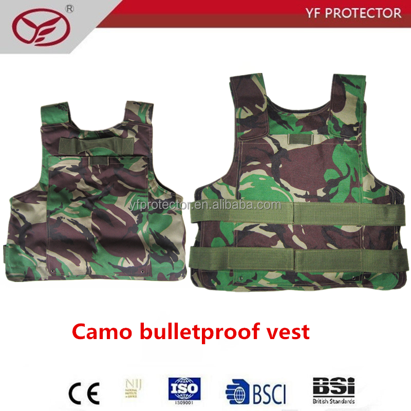 Military camo Anti bullet combined with anti stab full body protection vest