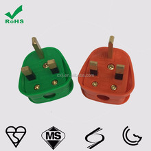 BSI 1363/A UK power cords assembly plug in lighted electrical colourful plug