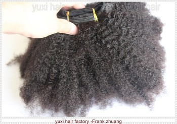 Instock Hot selling Virgin Mongolian Nina afro Kinky twist human hair extension