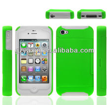 Business Card Case For iPhone 4,Credit Card Slot Case For Iphone 4 4s,Phone Case Card Holder For Iphone