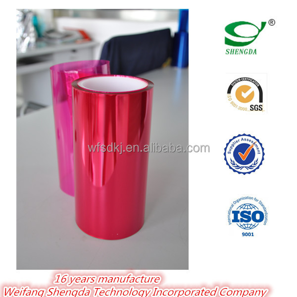 Colour Clear PET Release Film silicone polyester coating polyester liner