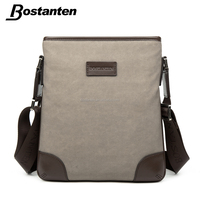 vintage canvas leather shoulder bag messenger bag for men