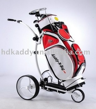2014 Patented The finest light weight aluminum electric golf trolley with tubular motor