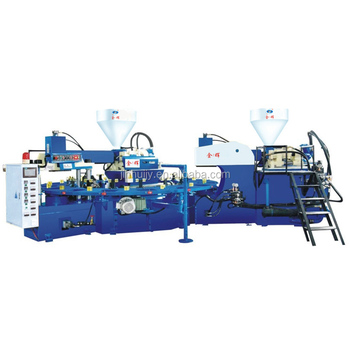 High quality double colors shoe sole making machine