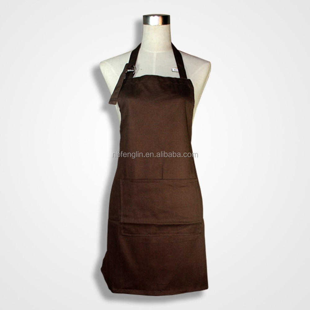 wholesale high quality promotional cotton kitchen work aprons for women cooking