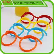 colorful glasses drinking straws