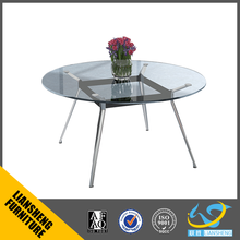 Modern Tempered Round Glass Conference Table Meeting Table