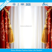 TOP ONE curtain factory more than 10 YEARS first -class quality creative designs jacquard sheer blackout embroidery curtain
