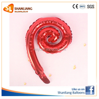 Spiral Shape Foil Balloon for Birthday party decoration
