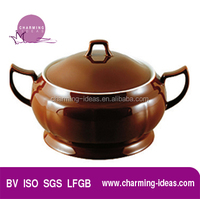Deep Round Shape With Two Ears Soup Tureen Kitchen Ware