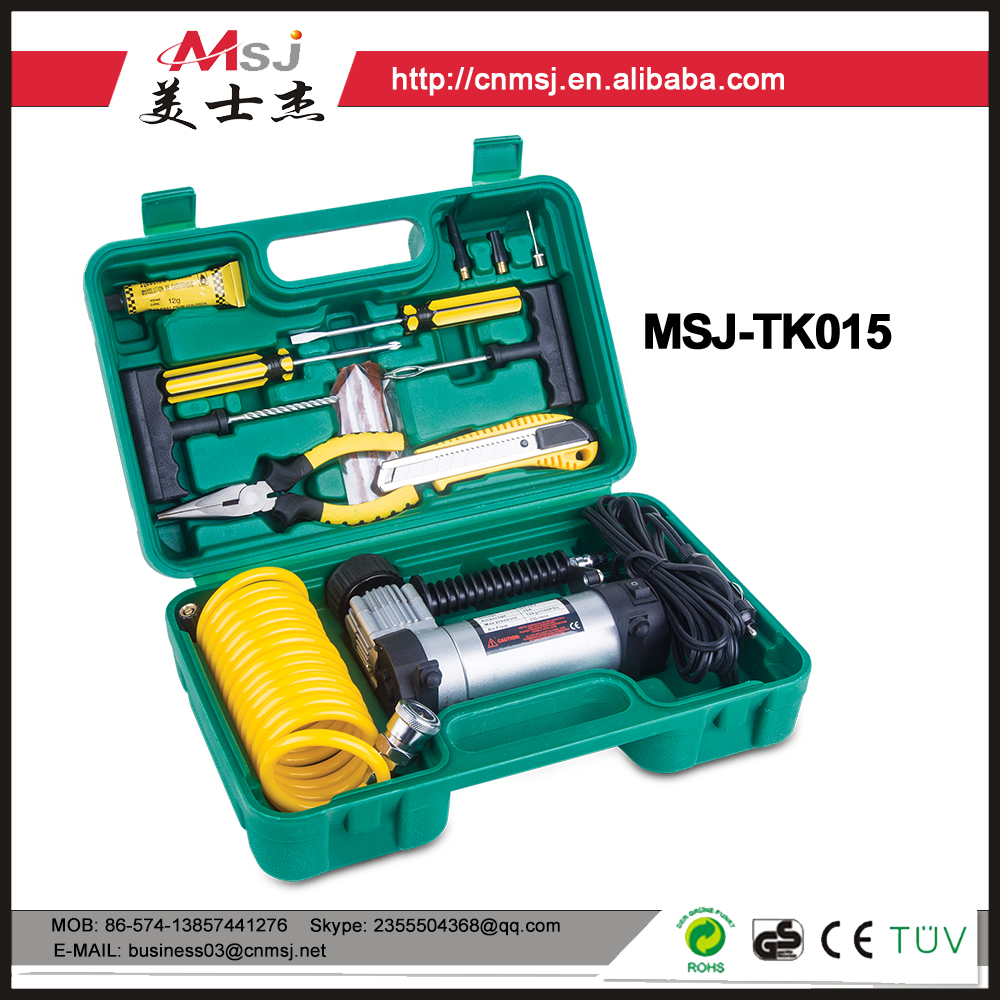 MSJ flashlight tool set /vehicle tools kits and tool set for small car or big car