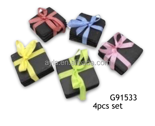Hot Selling Set of 4 Nature Slate Coasters