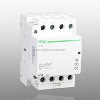 home use modular magnetic 2 pole 4 pole household contactor