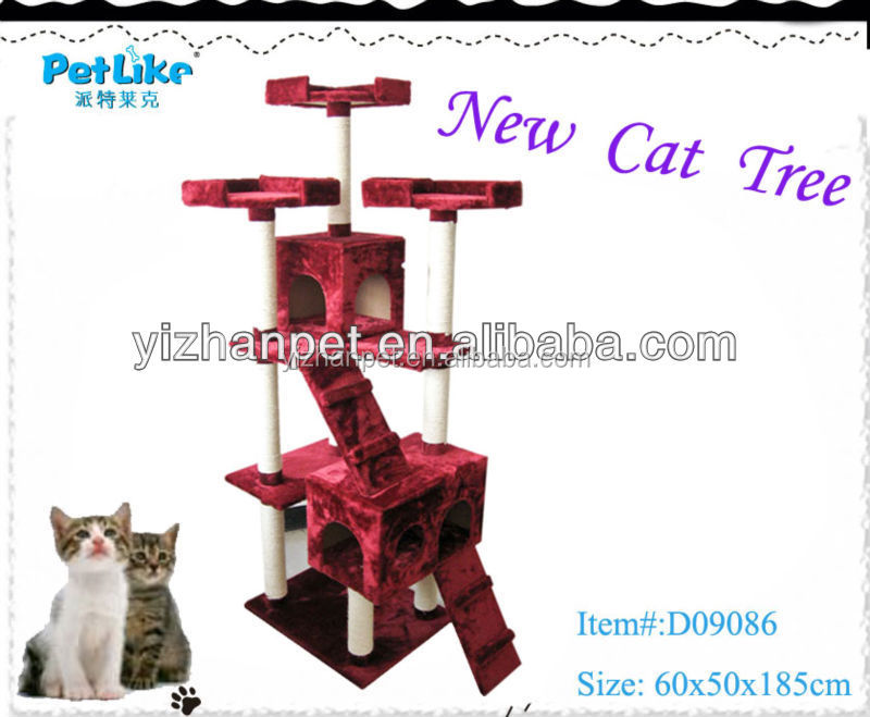 Private Label High quality Cat Tree House, Cat Scratching Tree, Climbing Cat Tree