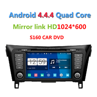 2015 Newest S160 Android 4.4.4 Car DVD player forNissan Qashqai 2014 with Quad core HD 1024*600 Captive Screen Gps Navi Radio