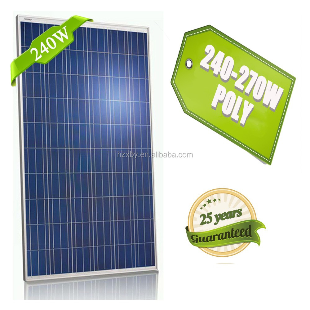 Hot Seller High Efficency A Grade Cell Poly 240W 250W 260W 265W 270W Solar Panel and Batteries for South Korea Market